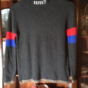 Zara kids size 13/14 charcoal gray hooded sweater